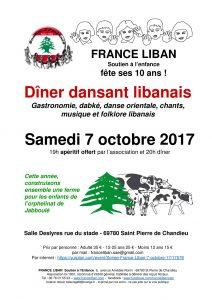 Affiche dîner dansant libanais 2017