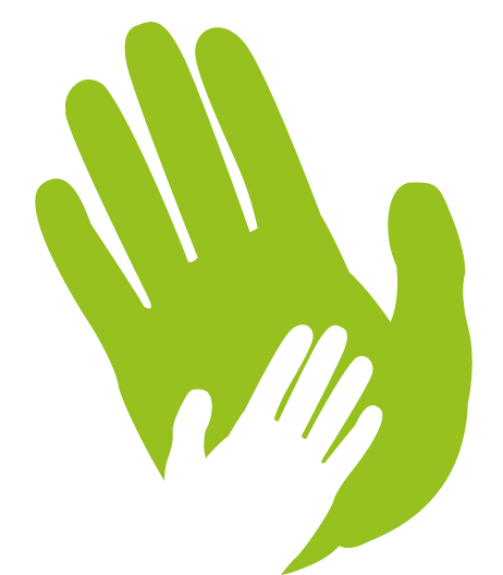 main verte et main blanche